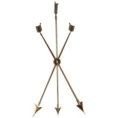 Maison Jansen Cast Brass Arrow Gueridon Table