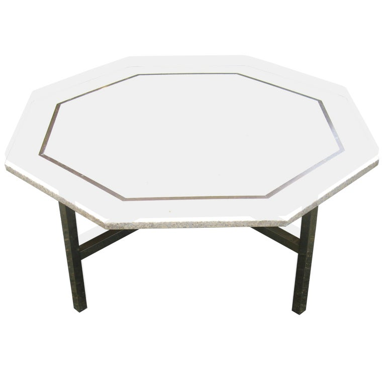 Harvey probber octagonal terrazzo top coffee table at 1stdibs for Harveys coffee tables