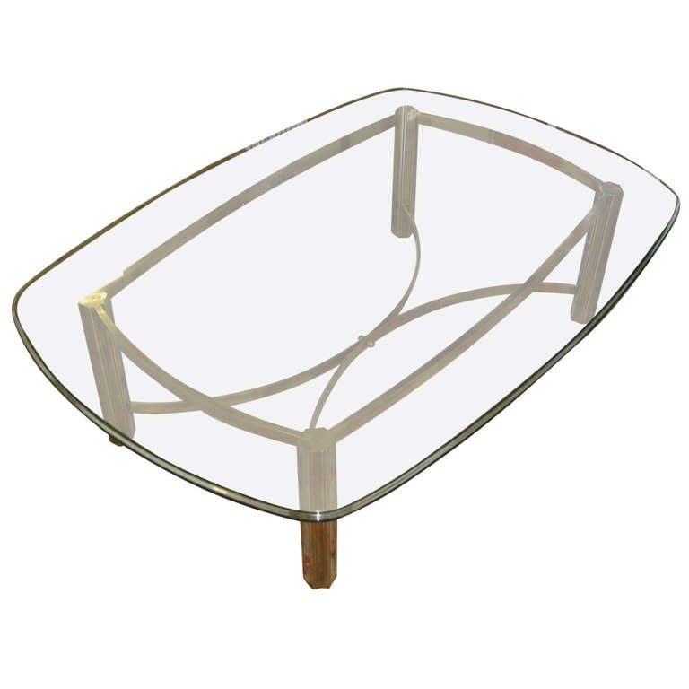 mastercraft for baker furniture large brass coffee table at 1stdibs