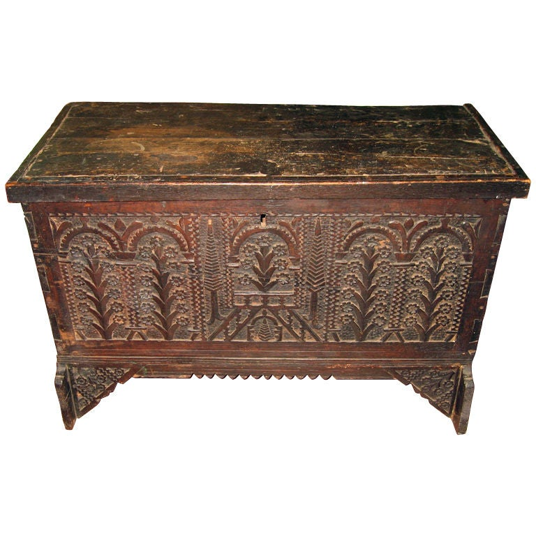 period jacobean dowry or trousseau chest at 1stdibs. Black Bedroom Furniture Sets. Home Design Ideas