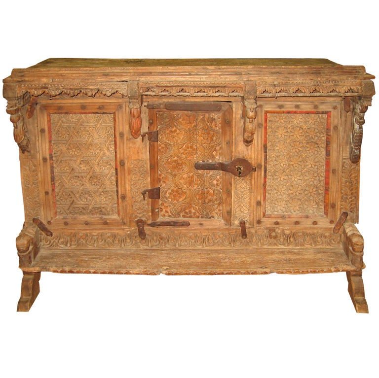Antique 16th Century Indian Food Storage Cabinet At 1stdibs