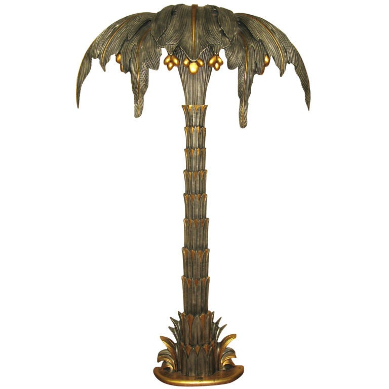 Fantastic Giant Palm Tree Floor Lamp at 1stdibs
