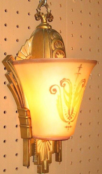 Pair of beardslee of chicago art deco period wall sconces for Art deco furniture chicago