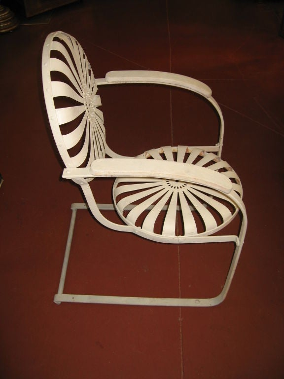 Pair of Amazing Francoise Carre Casablanca Garden Chairs image 2