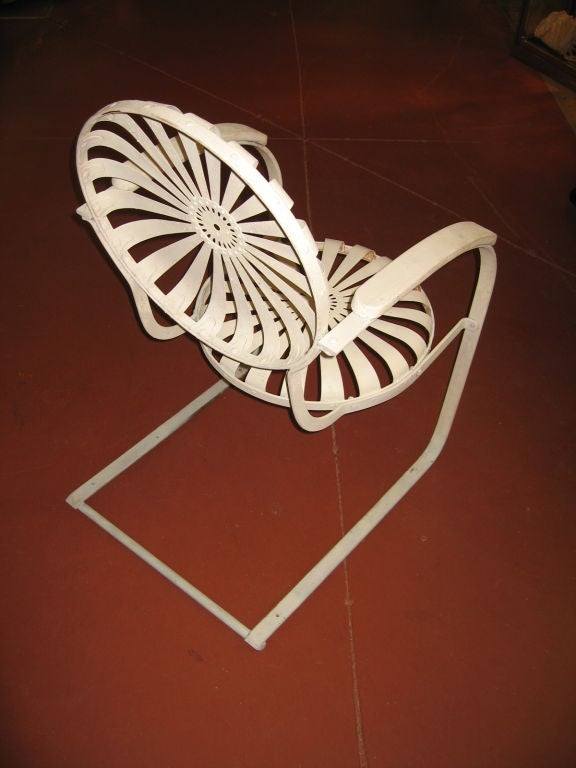 Pair of Amazing Francoise Carre Casablanca Garden Chairs image 3