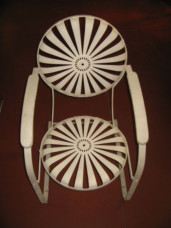 Pair of Amazing Francoise Carre Casablanca Garden Chairs image 5