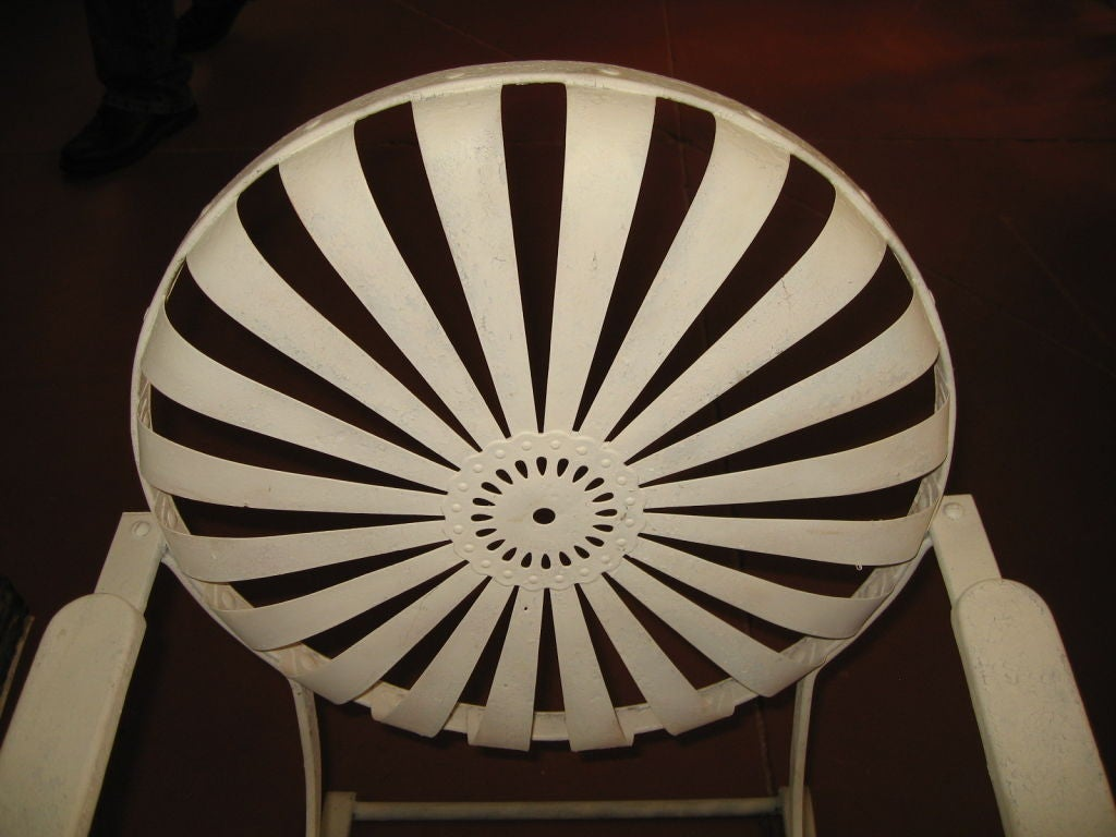 Pair of Amazing Francoise Carre Casablanca Garden Chairs image 7