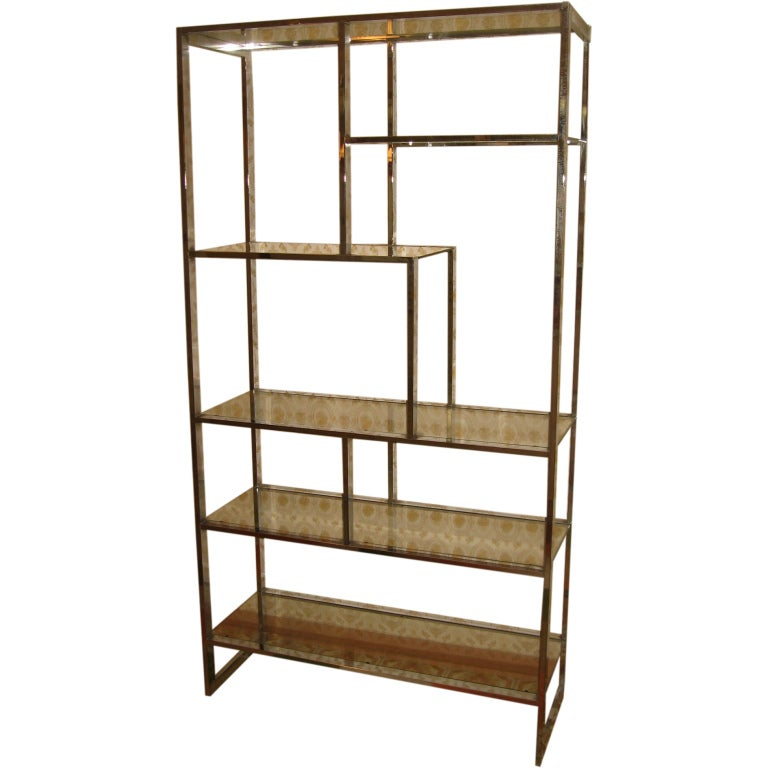 Milo baughman for thayer coggin chromed steel etagere at 1stdibs - Etagere cases carrees ...