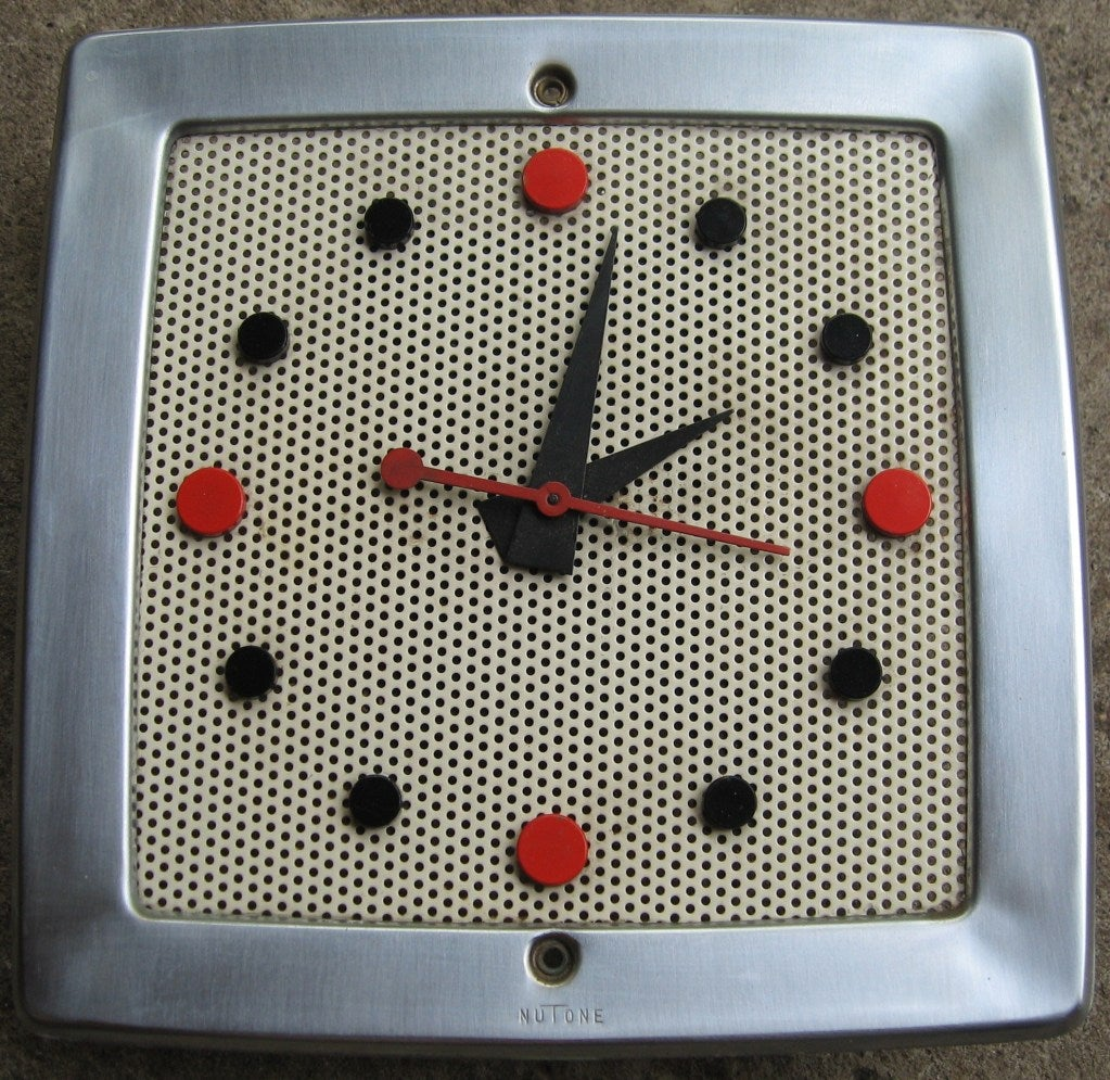 Rare Nutone Atomic Wall Clock Chime At 1stdibs