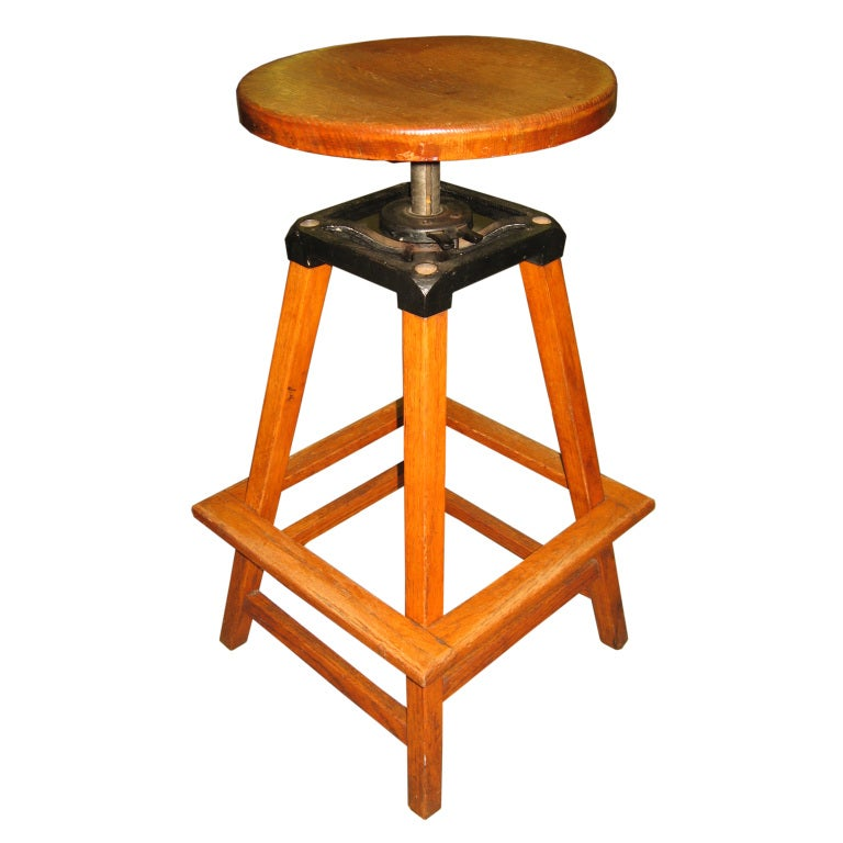 Antique Industrial Draughtsman S Or Architect S Stool At