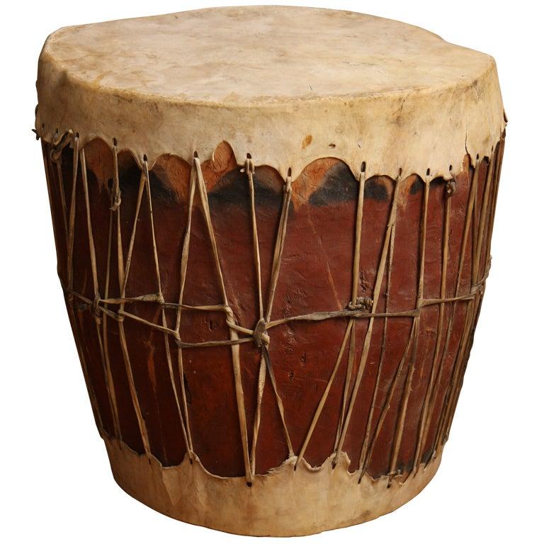 Pueblo Native American Drum At 1stdibs