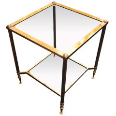 Maison Jansen Solid Brass Large End Table