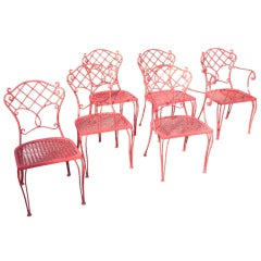 Molla Designed Outdoor Garden Set Table and Six Chairs