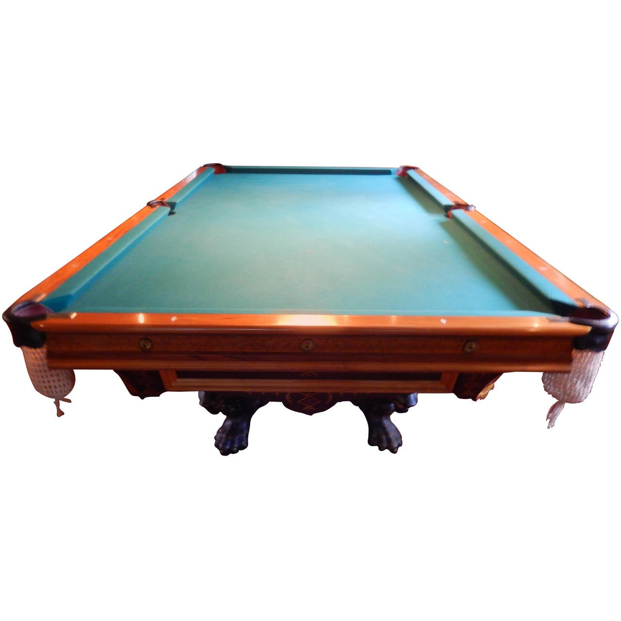 Brunswick balke monarch model billiard table at 1stdibs for Brunswick pool tables
