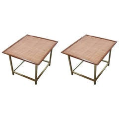 Rare Pair of End Tables by Kipp Stewart for Drexel