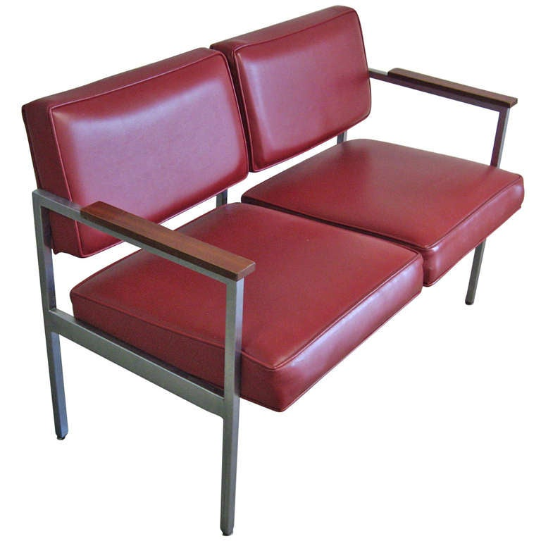 Steelcase Settee Or Loveseat At 1stdibs