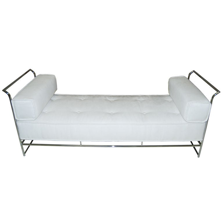 Chic Modern Steel Daybed Sofa Bench At 1stdibs