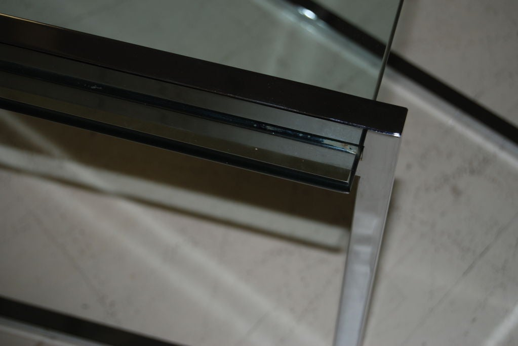 Polished Steel Nesting Tables 5