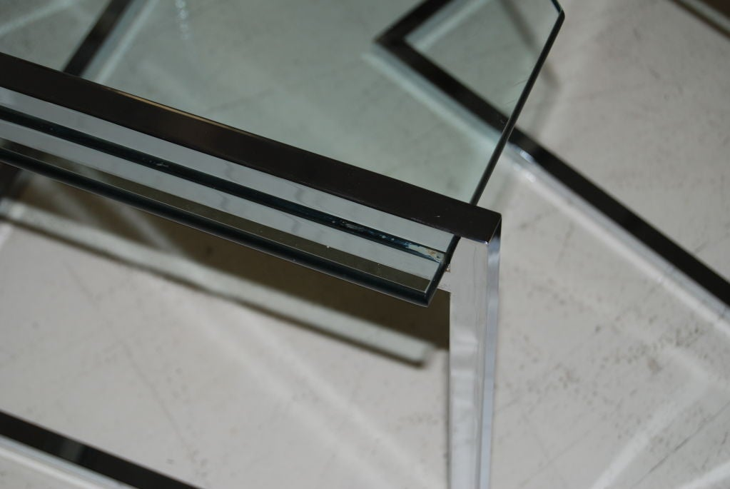 Polished Steel Nesting Tables 6