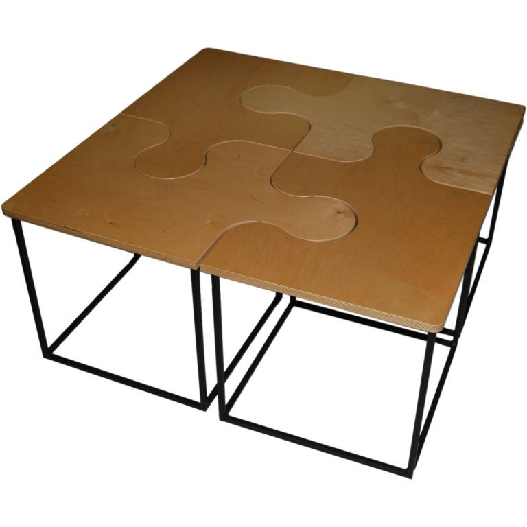 puzzle coffee table at 1stdibs