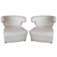 Pair of Chic Paul Laszlo Club Chairs