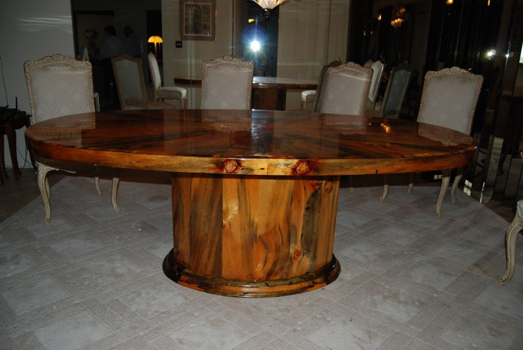 Dining table elliptical shaped dining table for Unusual shaped dining tables