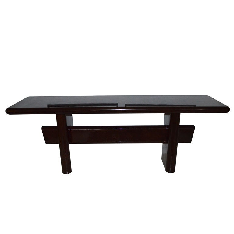 Iconic karl springer console table with original batik for Iconic tables