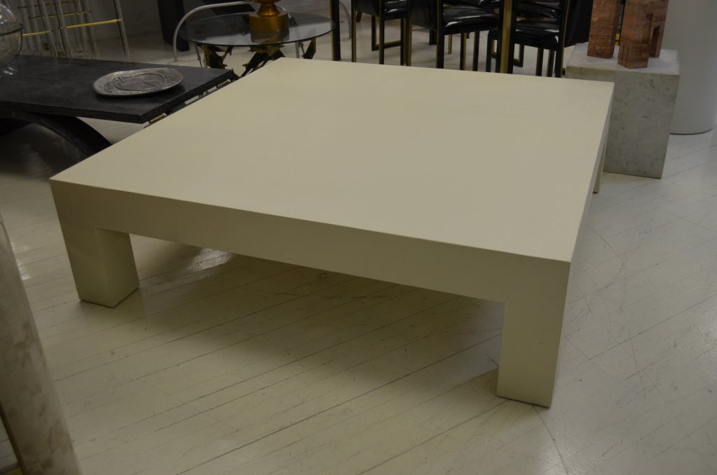 perfect 5 ft square parsons designed coffee table at 1stdibs With 5 foot square coffee table