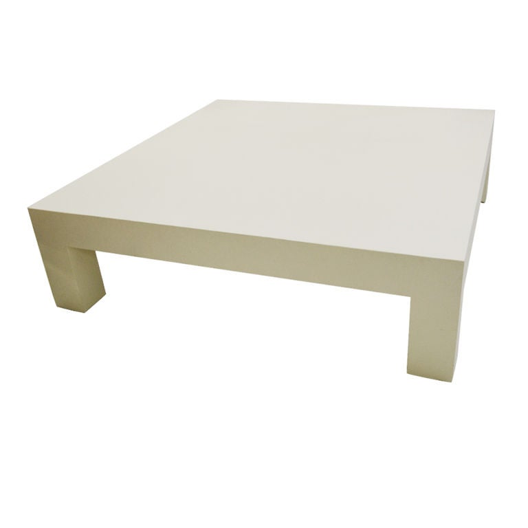perfect 5 ft square parsons designed coffee table at 1stdibs