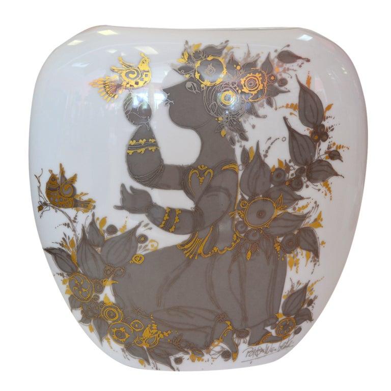 rosenthal studio line vase by bjorn wiinblad at 1stdibs. Black Bedroom Furniture Sets. Home Design Ideas
