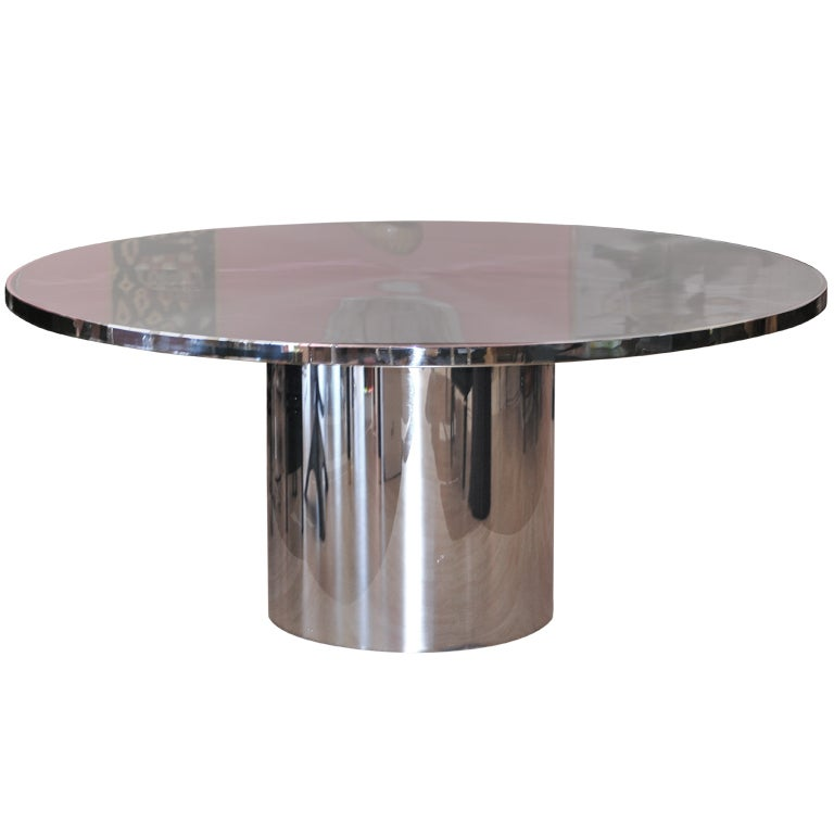 amazing round brueton speer dining table with steel top