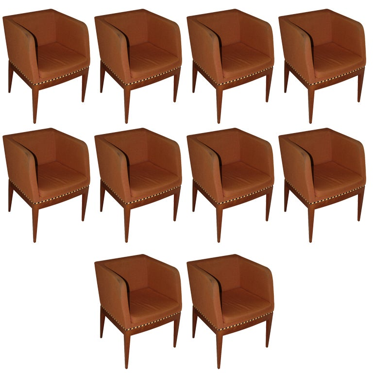 Ten Dining Chairs By Cabas At 1stdibs