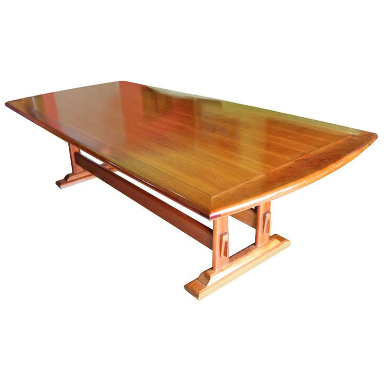 nine foot cherry dining room table at 1stdibs
