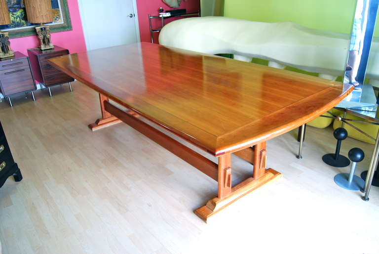 Nine foot cherry dining room table for sale at 1stdibs for Cherry dining room table