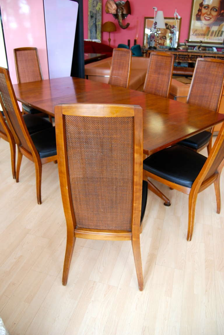 john widdicomb dining room table and eight chairs at 1stdibs