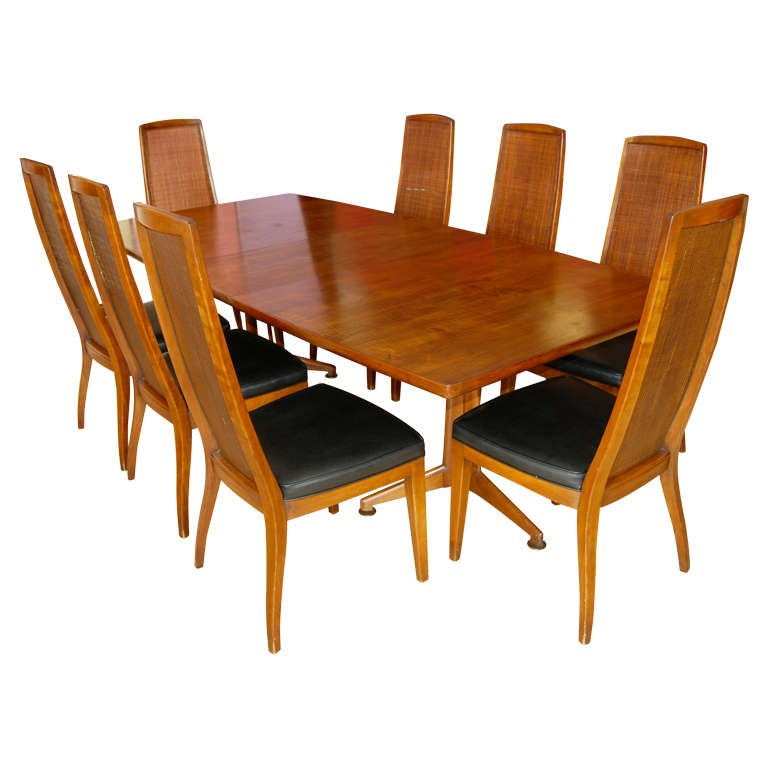 john widdicomb dining room table and eight chairs for sale