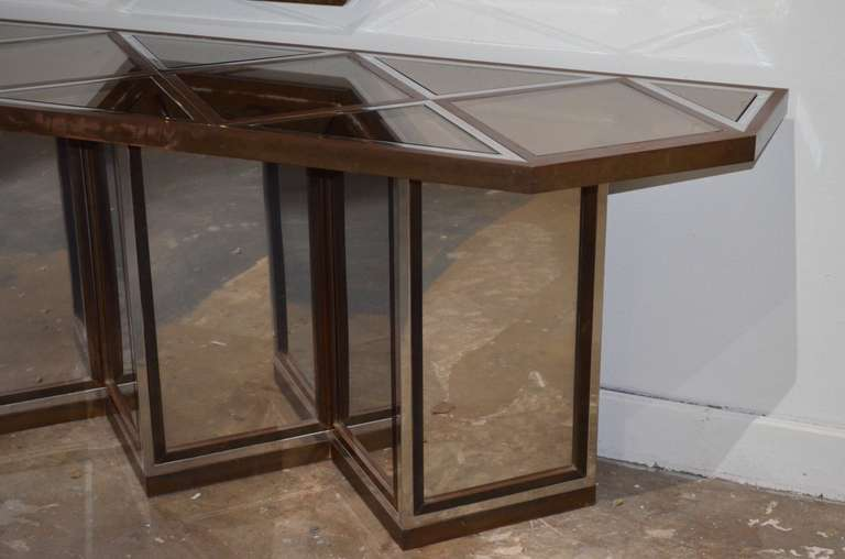 Romeo Rega Mixed Metal Mirror and Console Table 3