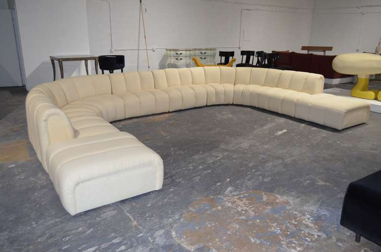 Wonderful Large Sectional Sofa In The Manner Of Desede At