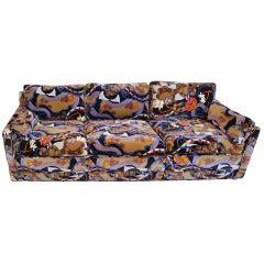 Harvey Probber Sofa Upholstered in Jack Lenor Larsen Fabric