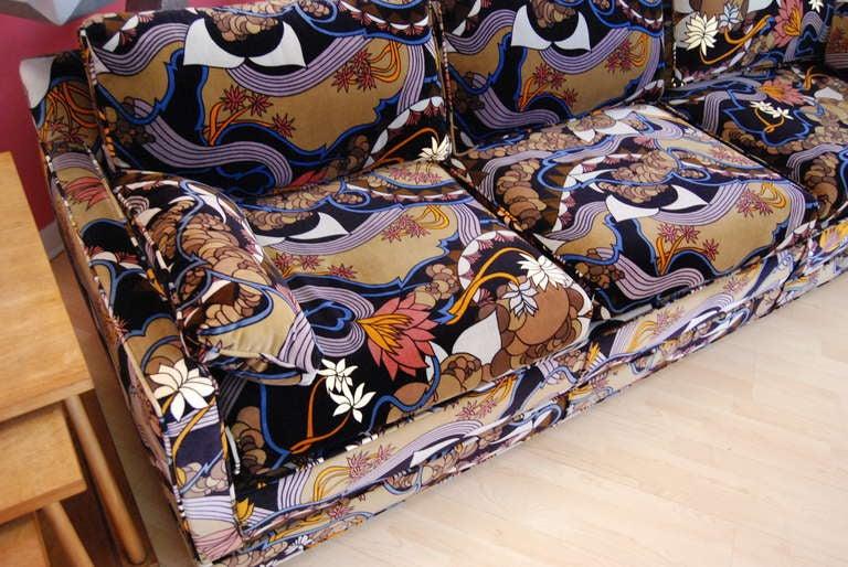 harvey probber sofa upholstered in jack lenor larsen. Black Bedroom Furniture Sets. Home Design Ideas