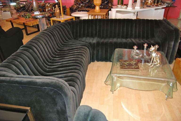 Wonderful Vertical Channel Tufted Sectional Sofa By Artima