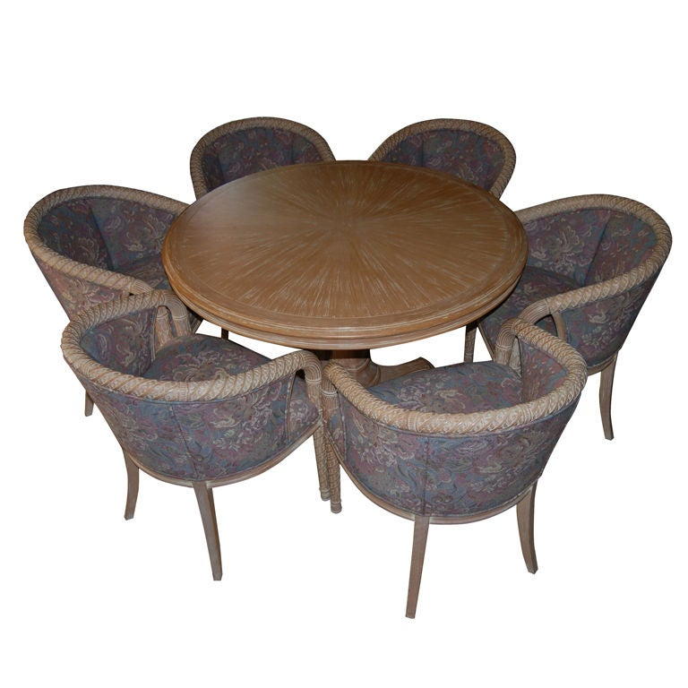 UNIQUE DINING OR GAME TABLE WITH 6 CHAIRS At 1stdibs