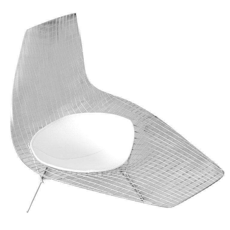 Harry bertoia asymmetric chaise at 1stdibs for Bertoia asymmetric chaise