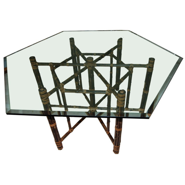 VINTAGE HEXAGON TWO TONE MCGUIRE DINING TABLE at 1stdibs : XXX809612886261461 from www.1stdibs.com size 768 x 768 jpeg 48kB