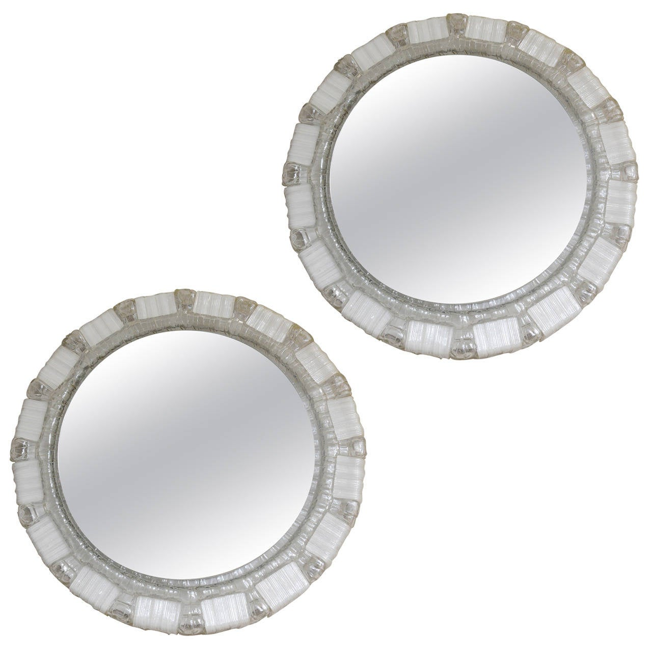 Clear and White Resin Backlit Mirrors