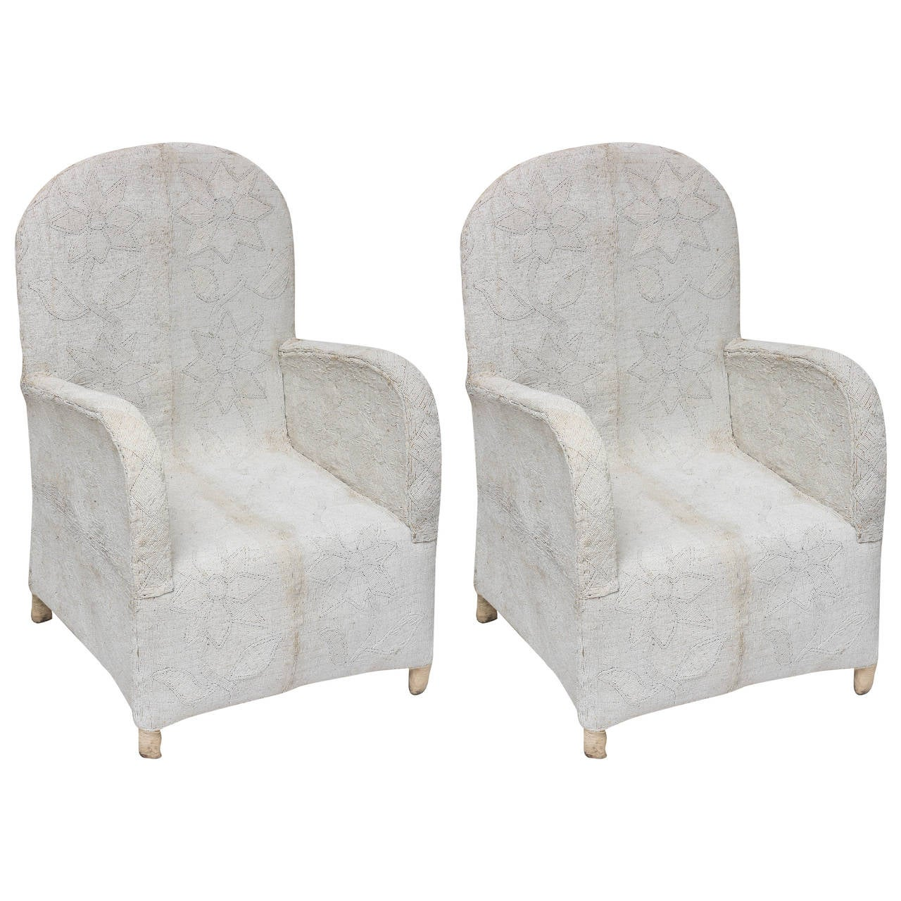 pair of beaded chairs at 1stdibs