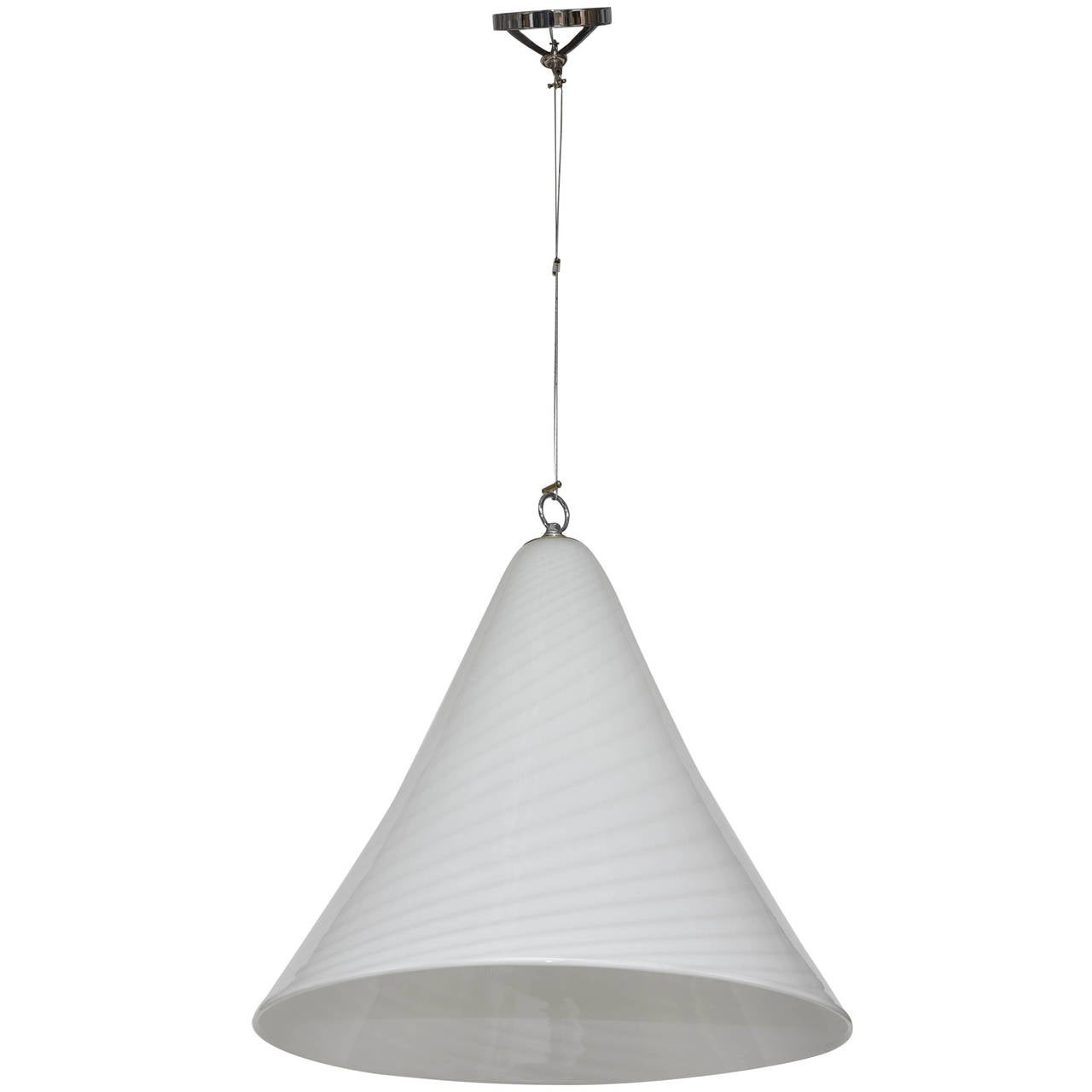 murano cone pendant light for sale at 1stdibs