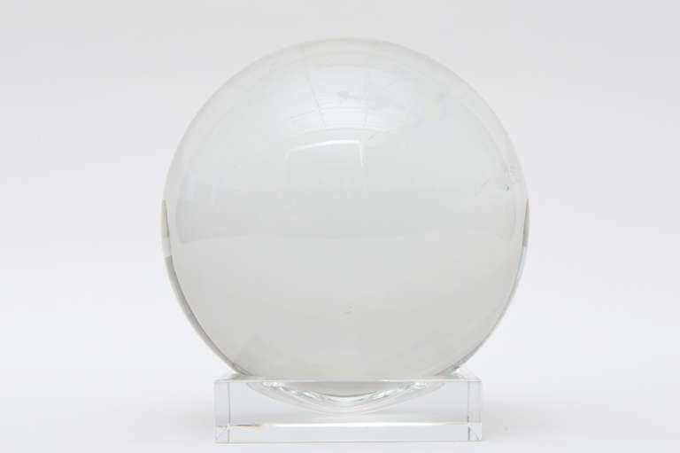 French Signed Baccarat Quot Crystal Ball Quot At 1stdibs