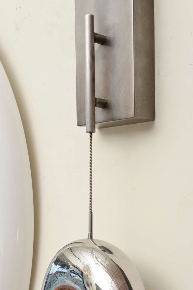 20th Century Stainless Steel Suspended Wall Sculpture Limited Edition Signed For Sale