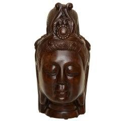 Resin Vintage Kwan Yin Buddha Head